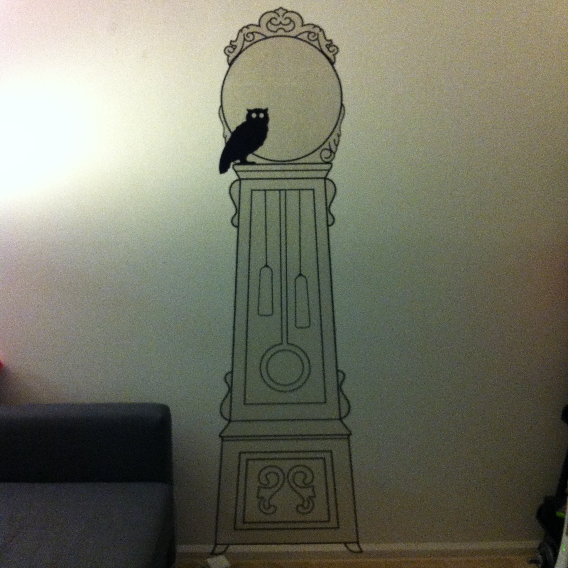 Wall Art Decals Clock : The art of wall sticker late night crafters