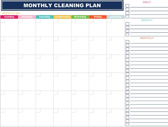 MonthlyCleaningChecklist